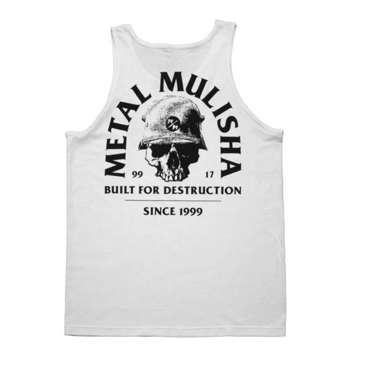 Muški top METAL MULISHA - BUILT - WHT
