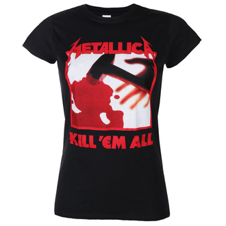 Ženska majica METALLICA - KILL EM ALL TRACKS - BLACK - PLASTIC HEAD, PLASTIC HEAD, Metallica