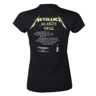 Ženska majica METALLICA - AND JUSTICE FOR ALL TRACKS - BLACK - PLASTIC HEAD, PLASTIC HEAD, Metallica