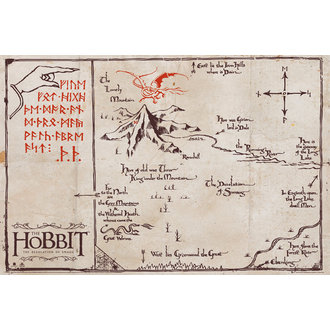 plakat The Hobbit - Mountain Karta - FP3206, GB posters