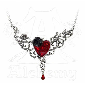 Lančić ALCHEMY GOTHIC - The Blood Rose Heart - P721, ALCHEMY GOTHIC