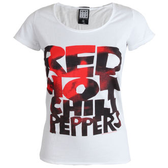 Majica ženska Crven Hot Chilli Paprike - Tip Face Popuniti - Bijelo - AMPLIFIED, AMPLIFIED, Red Hot Chili Peppers