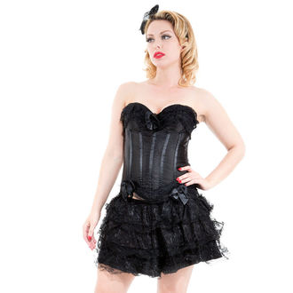 korzet i suknja ženska HEARTS AND ROSES - Black Corset With Skirt, HEARTS AND ROSES