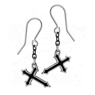 Naušnice ALCHEMY GOTHIC - Sorrow Cross Earrings - E363, ALCHEMY GOTHIC