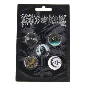 Bedževi Cradle of Filth - HAMMER OF THE WITCHES - RAZAMATAZ, RAZAMATAZ, Cradle of Filth