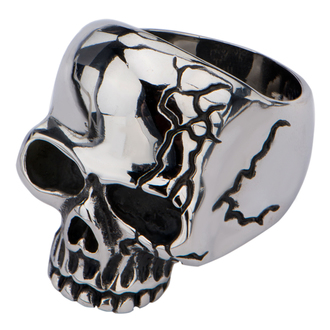 Prsten INOX - SKULL WITH CRACK - FR666, INOX