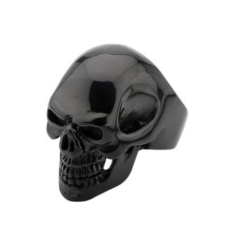 Prsten INOX - BLK IP SKULL ALL TEETH - FR100K, INOX