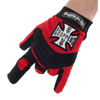 Rukavice West Coast Choppers - RIDING - BLACK / RED, West Coast Choppers
