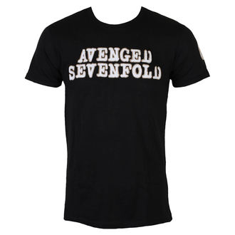 Majica metal muška Avenged Sevenfold - Logo & Deathbat Applique - ROCK OFF, ROCK OFF, Avenged Sevenfold