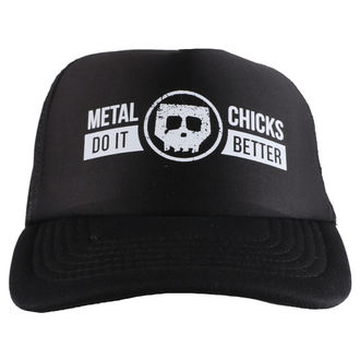 Kapa METAL CHICKS DO IT BETTER - Skull - Logo - Black, METAL CHICKS DO IT BETTER