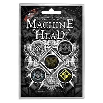 Bedževi Machine Head - Crest - RAZAMATAZ, RAZAMATAZ, Machine Head