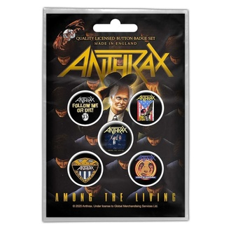 Bedževi Anthrax - Among The Living - RAZAMATAZ, RAZAMATAZ, Anthrax