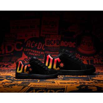 Cipele DC - AC / DC - HIGHWAY TO HELL - BLACK / BLACK / ORANGE, DC, AC-DC