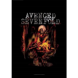 Zastava Avenged Sevenfold - Fire Bat, HEART ROCK, Avenged Sevenfold