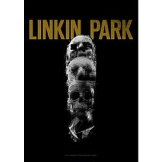 Zastava Linkin Park - Living - Skull Totem, HEART ROCK, Linkin Park