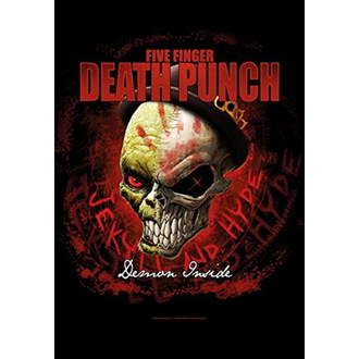 Zastava Five Finger Death Punch - Dapper, HEART ROCK, Five Finger Death Punch