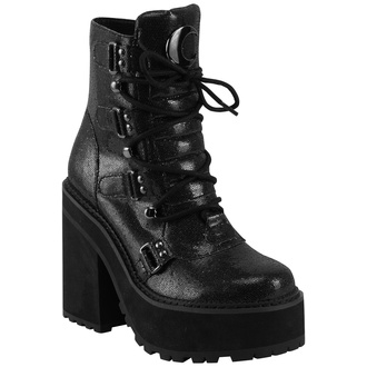 Ženske čizme KILLSTAR - Broom Rider Boots - BLACK Glitter, KILLSTAR