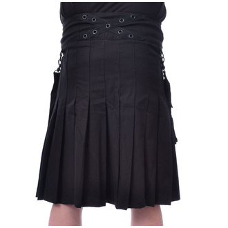 Muška kilt Poizen Industries - CATO - BLACK, POIZEN INDUSTRIES