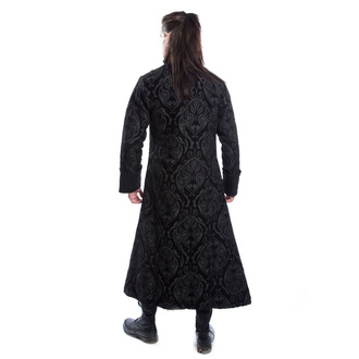 Muški kaput POIZEN INDUSTRIES - MONARCH - BLACK BROCADE, POIZEN INDUSTRIES