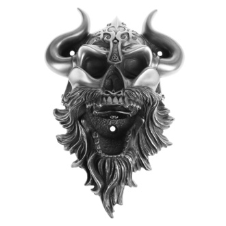 Otvarač za boce (Zidni) Viking - Skull (Silver Finish) - BEER BUDDIES, BEER BUDDIES